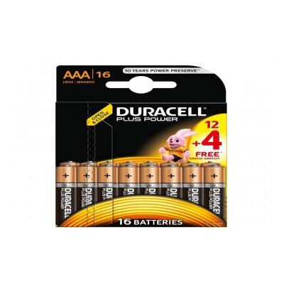 Duracell PLUS POWER LR03 AAA 12+4