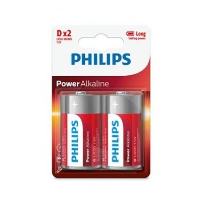 Philips PILES ALCALINES LR20 X2