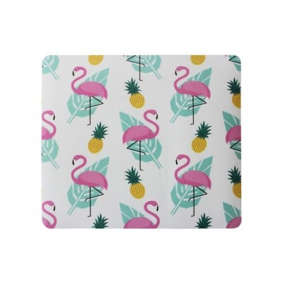 It Works TAPIS DE SOURIS MP-501 IMPRIME FLAMANT ROSE ET ANANAS