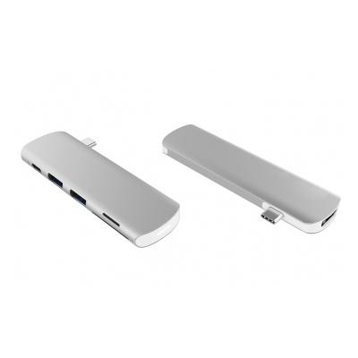Onearz Mobile Gear Adapt. USB-C vers HDMI, USB-C PD, 1 microSD+SD, audio Silver