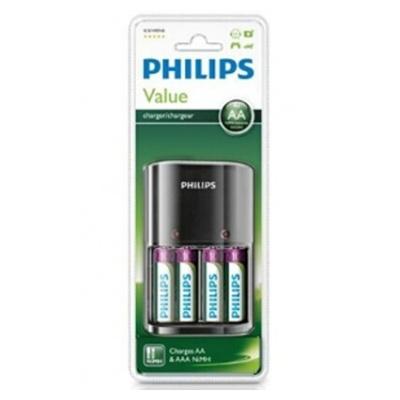 Philips Chargeur de piles AA ou AAA fourni avec pack 4 piles
