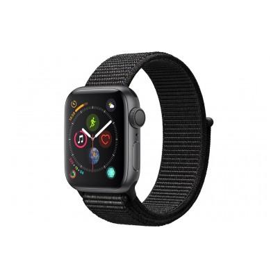 Apple Watch Série 4 GPS 40mm Boîtier en aluminium gris sidéral avec Boucle Sport noir