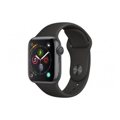 Apple Watch Série 4 GPS 40mm Boîtier en aluminium gris sidéral avec Bracelet Sport noir