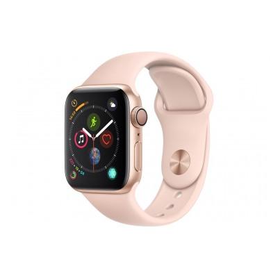 Apple Watch Série 4 GPS 40mm Boîtier en aluminium or avec Bracelet Sport rose des sables