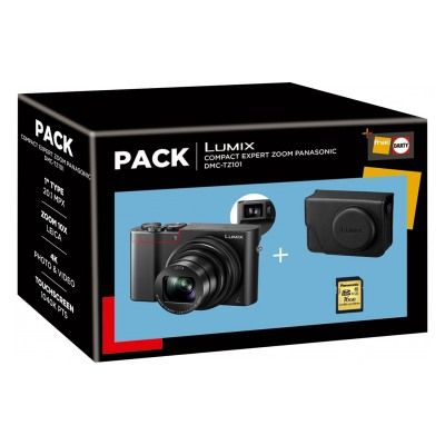 Panasonic Pack Lumix TZ101 noir + housse + carte SD 16 Go