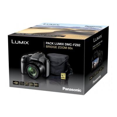 Panasonic Lumix DC-FZ82 Noir + Housse + Carte SD 8 Go