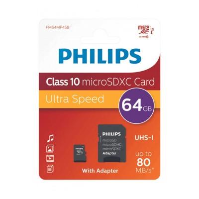 Philips CARTE MICRO SD 64GB UHS 1