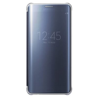 Samsung ETUI CLEAR VIEW COVER NOIR POUR GALAXY S6 EDGE +