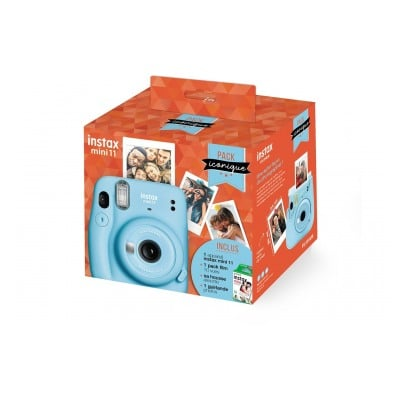 Fujifilm PACK ICONIQUE mini 11 bleu givré