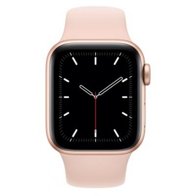 Apple Watch SE GPS, 44mm boitier aluminium or avec bracelet sport rose