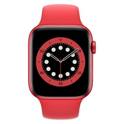Apple Watch Series 6 GPS + Cellular, 44mm boitier aluminium rouge avec bracelet sport rouge