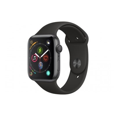 Apple Watch Série 4 GPS + Cellular 44mm Boîtier en aluminium gris sidéral avec Bracelet Sport noir
