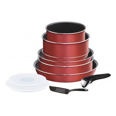 Tefal INGENIO ESSENTIAL Rouge Surprise - Set de 10 pièces L2369002