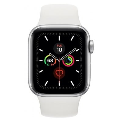 Apple Watch Series 5 GPS 40mm Alu Argent / Blanc