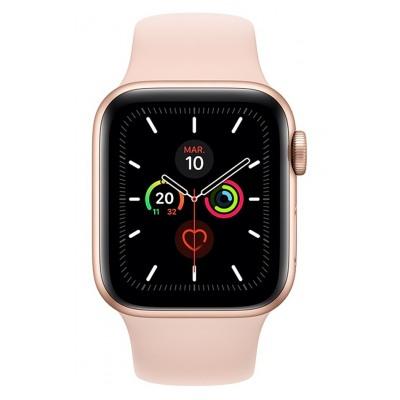 Apple Watch Series 5 GPS 40mm, Boitier Aluminium Or avec Bracelet Sport Rose