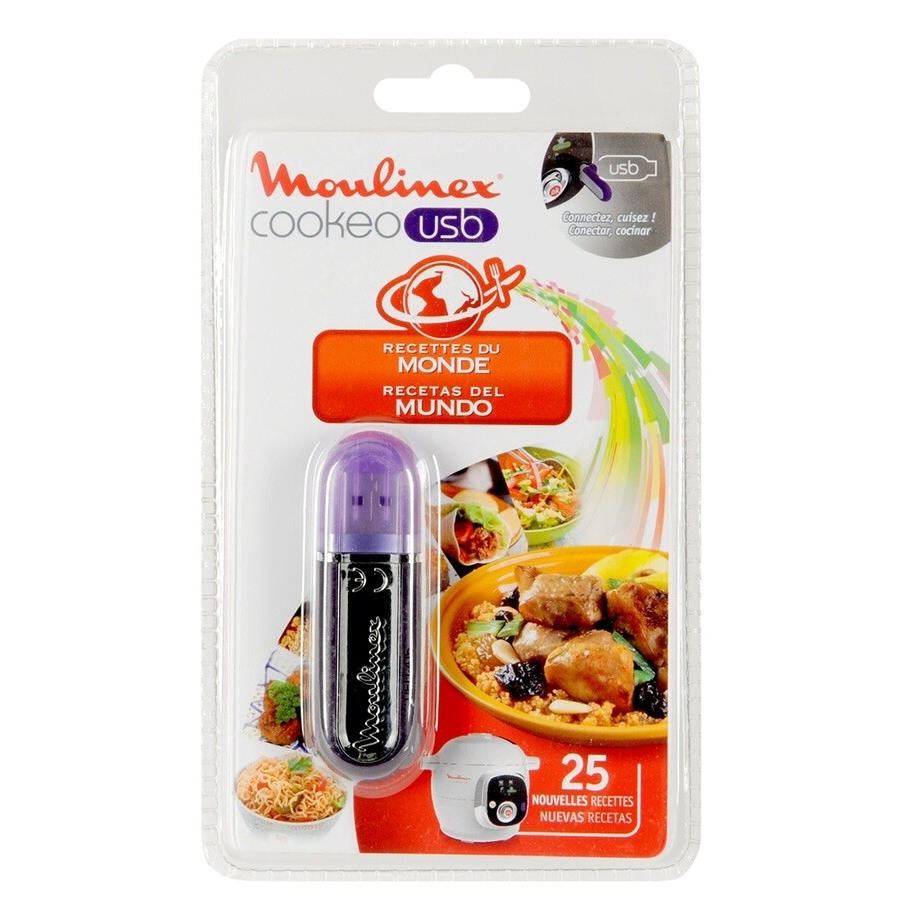Ustensiles Moulinex CLE USB COOKEO RECETTE MONDE DARTY