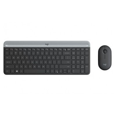 Logitech Slim Wireless Keyboard and Mouse Combo MK470 - GRAPHITE - FRA - 2.4GHZ - N/A - CENTRAL